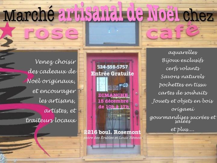 Marché de Noël chez rose café Montreal