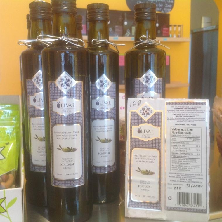 huile d'olive du Portugal chez rose cafe